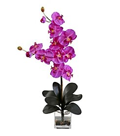 Nearly Natural® Double Giant Phalaenopsis with Vase