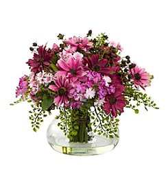 Nearly Natural® Large Mixed Daisy Arrangement