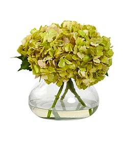 Nearly Natural® Large Blooming Hydrangea with Vase