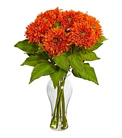 Nearly Natural® Sunflower Arrangement with Vase