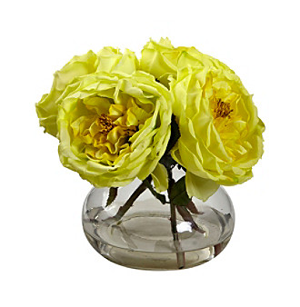 Nearly Natural® Fancy Rose with Vase