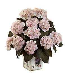 Nearly Natural® Hydrangea with Large Floral Planter
