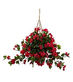 Nearly Natural® Indoor Outdoor Bougainvillea Hanging Basket
