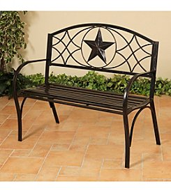 Mission Gallery Metal Lone Star Bench