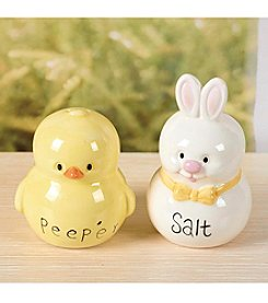Transpac Art Set Of Two Bunny And Chick Salt And Pepper Shaker