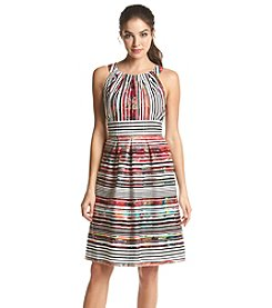 Nine West® Multi Stripe Fit And Flare Dress