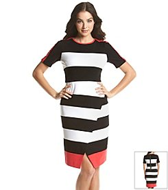 Ivy & Blu™ Striped Ponte Split Dress