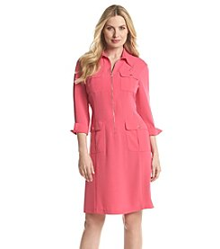 Jones New York® Azalea Zip Front Shirt Dress