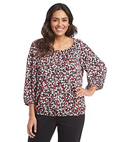 Jones New York Signature® Plus Size Floral Peasant Top