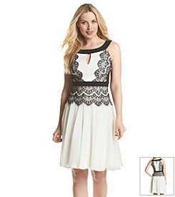 JAX® Keyhole Lace Dress