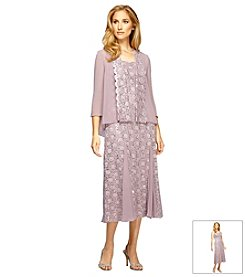 Alex Evenings® Tea Length Swing Jacket Dress