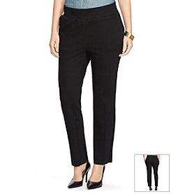 Lauren Ralph Lauren® Plus Size Straight-Leg Cotton Sweatpants
