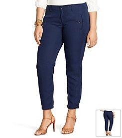 Lauren Ralph Lauren® Plus Size Sueded-Twill Skinny Pants