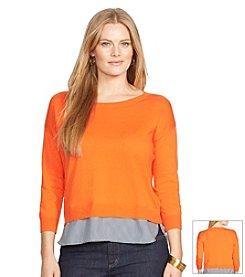 Lauren Ralph Lauren® Plus Size Layered Crewneck Sweater