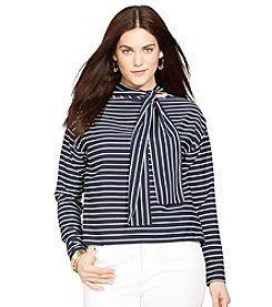 Lauren Ralph Lauren® Plus Size Striped Boatneck Blouse