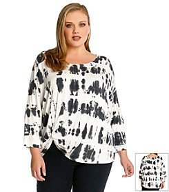 Karen Kane® Plus Size Tie Dye Pick Up Top