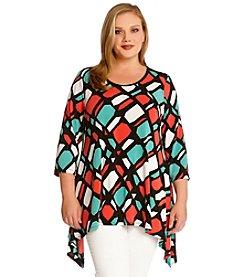 Karen Kane® Plus Size Handkerchief Tunic