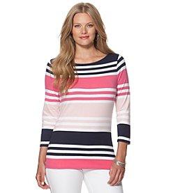 Chaps® Plus Size Stripe Knit Top