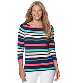 Chaps® Plus Size Stripe Knit Top