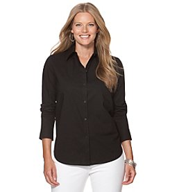 Chaps® Plus Size Broadcloth Button Up Shirt