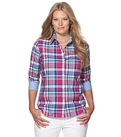 Chaps® Plus Size Plaid Button Up Shirt