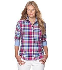Chaps® Plus Size Plaid Button Up Shirt