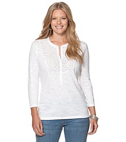 Chaps® Plus Size Slub Jersey Knit Top