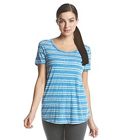 Marc New York Performance Striped Scoop Tee