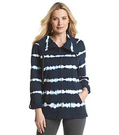 Gloria Vanderbilt® Sport Tie Dye Stripe Cowlneck Jacket