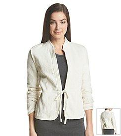 ruff hewn GREY Textured Crop Jacket