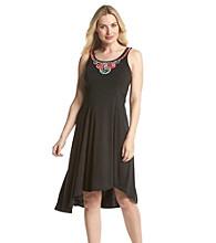 Notations® Embellished Asymmetrical Hem Dress