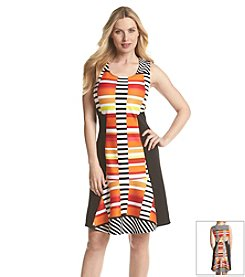 Notations® Multi Print Fit And Flare Dress