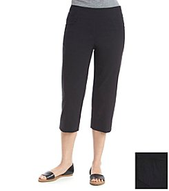 Ruby Rd.® Solid Pull On Crop Capri