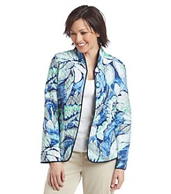 Alfred Dunner® Abstract Print Jacket