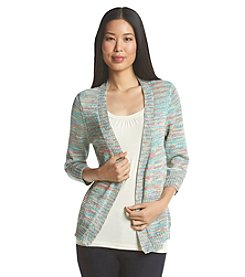 Notations® Marled Open Front Cardigan