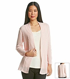 Notations® Solid Mix Stitch Cardigan
