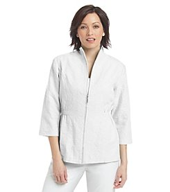 Breckenridge® Petites' Paradise Chic Textured Jaquard Jacket