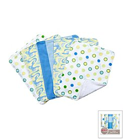 Trend Lab 5-Pack Dr. Seuss Oh, the Places You'll Go! Burp Cloth Bundle Box Set