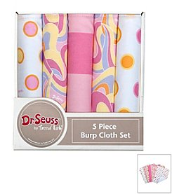 Trend Lab 5-Pack Dr. Seuss Burp Cloth Bundle Box Set