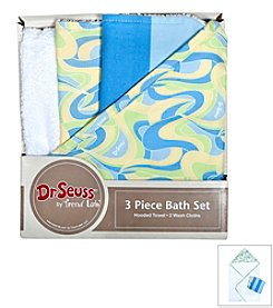 Trend Lab 3-Pack Dr. Seuss Oh, the Places You'll Go! Bath Bundle Box Set