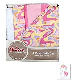 Trend Lab 3-Pack Dr. Seuss Oh, the Places You'll Go! Bath Bundle Box Set
