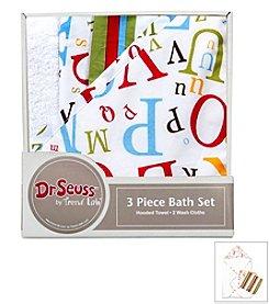 Trend Lab 3-Pack Dr. Seuss ABC Bath Bundle Box Set