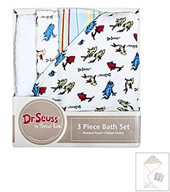 Trend Lab 3-Pack Dr. Seuss One Fish Two Fish Bath Bundle Box Set