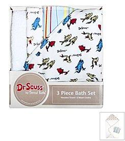 Trend Lab 3-Pack Dr. Seuss One Fish Two Fish Bath Bundle Box Set