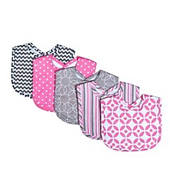 Trend Lab 5-Pack Lily Bib Set
