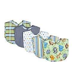 Trend Lab Chibi Zoo 5-Pack Bib Set