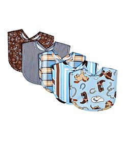 Trend Lab Cowboy Baby 5-Pack Bib Set