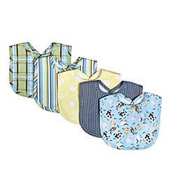 Trend Lab Baby Barnyard 5-Pack Bib Set