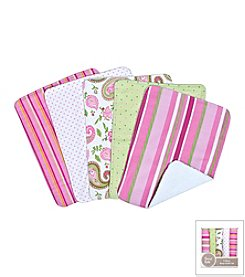 Trend Lab Paisley Park 5-Pack Burp Cloth Bundle Box Set
