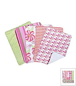 Trend Lab Hula Baby 5-Pack Burp Cloth Bundle Box Set